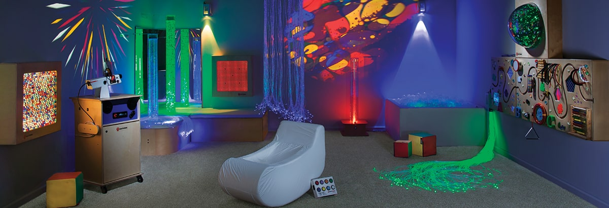 How To Create An Autism-Friendly Environment For Your Child. Sensory room with large leisure chair