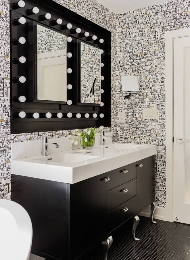 9 Great Bathroom Design Trend for 2020 and Beyond. Great idea of black vanity mirror