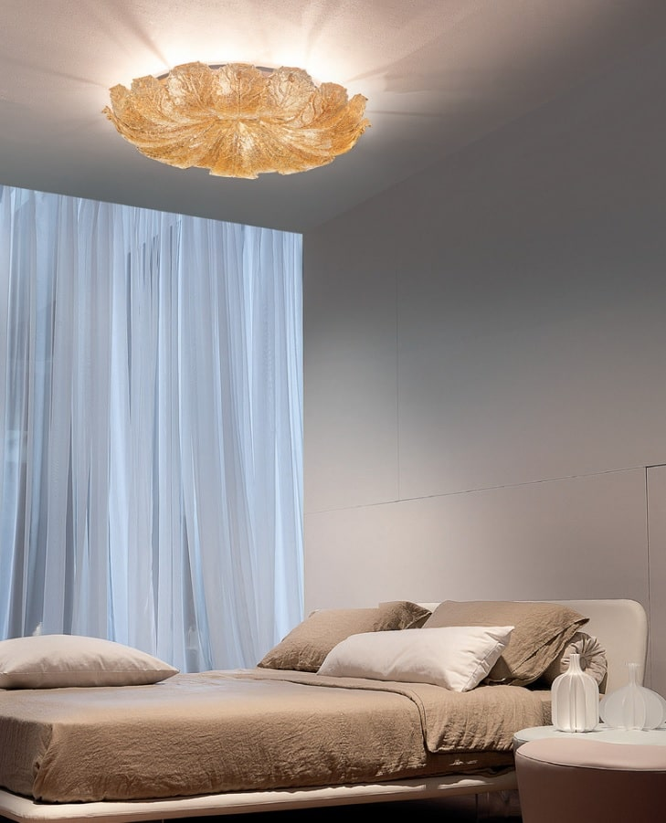 Quick Review of Types and Styles of Chandeliers. Simple gray walls for minimalistic bedroom