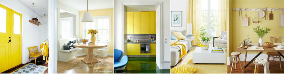 Color Psychology in interior design: How to Use Colors for Own Profit. Warm yellow color positively affects the digestive system
