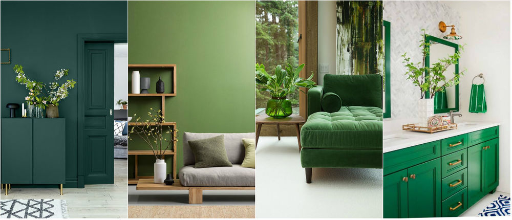 Green is the color of harmony and nature. It is just perfect for bedrooms and children's rooms.