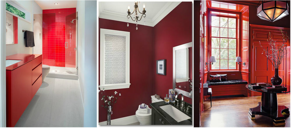 Beautiful interior in different shades of red