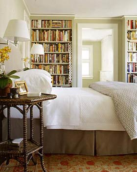 The bedroom with library inside