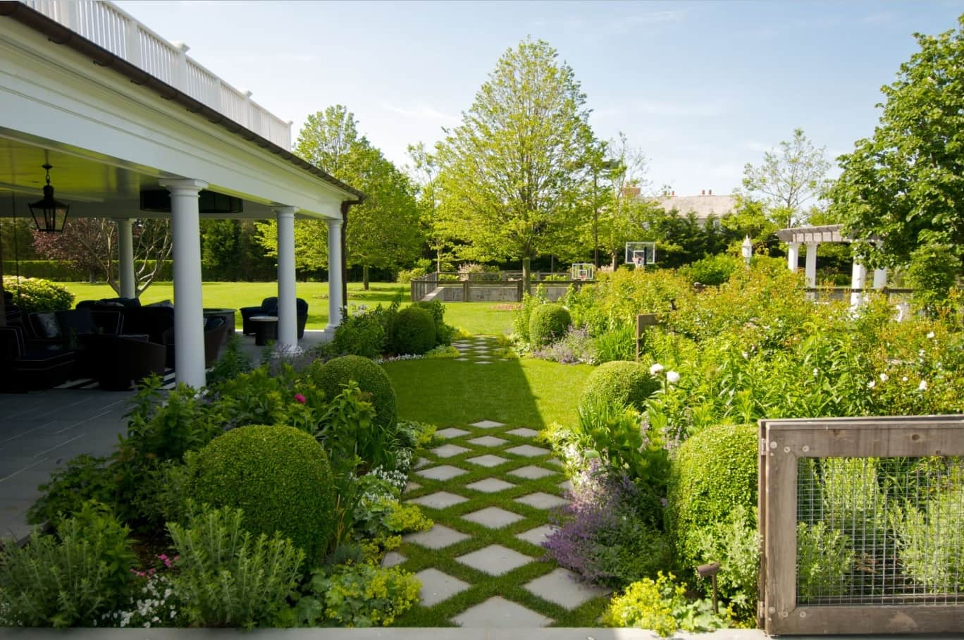 Tips for Growing the Perfect Lawn. Great example of landscape design at the backyard