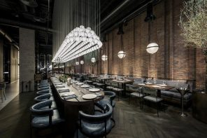 How To Choose A Theme For Your Restaurant. Noir interior of the Steampunk design in large space