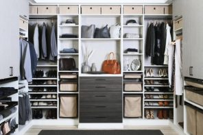 3 Storage Tips to Keep Your Home Chic and Practical. Walk=in closet with box storage open shelves
