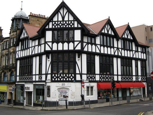 Tudor Interior Design Style History and Examples. Whitewashed walls and wooden beams to form patterns at the facade