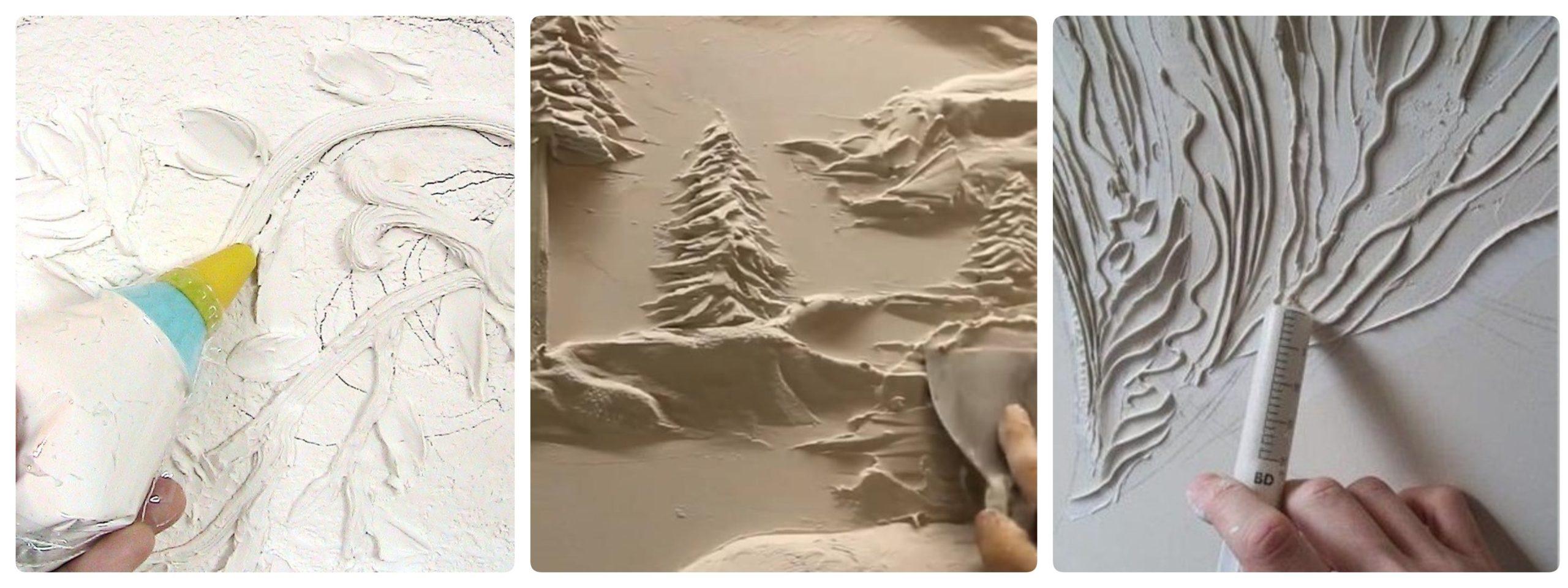 Process of wall sculpture