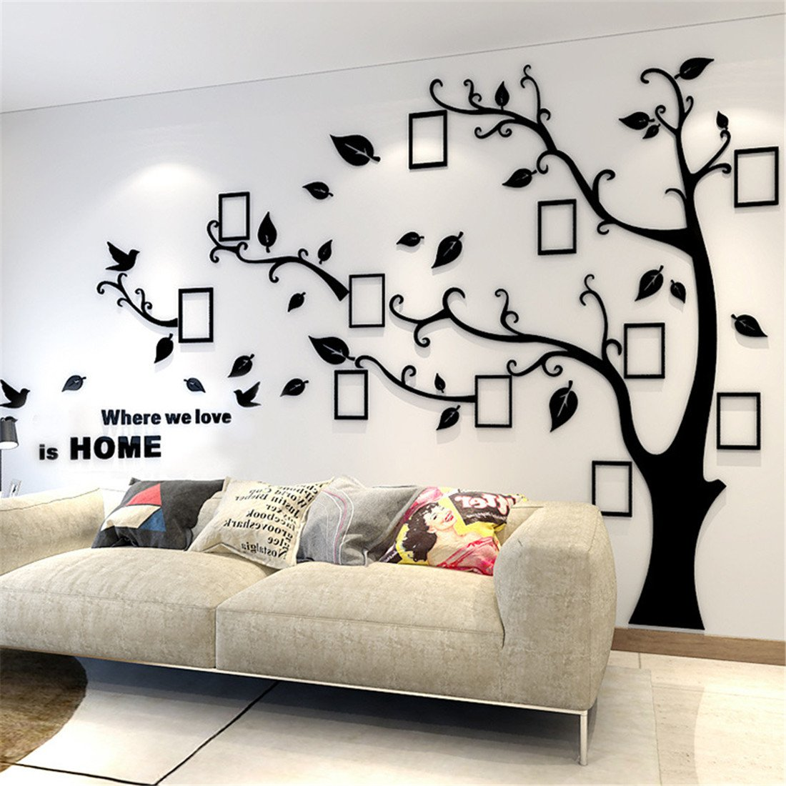 Image of: Some Ideas For Your Interior Using Tree Wall Decals And Tree Murals