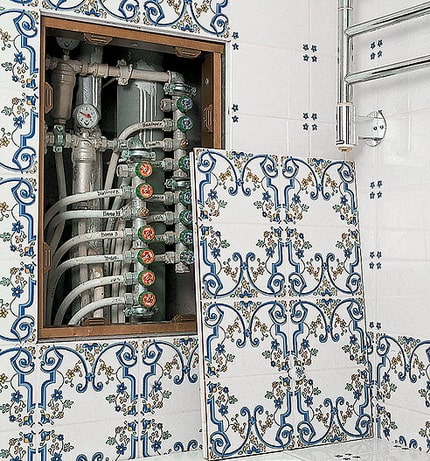 Bathroom Plumbing: Schemes of Installation, Advice. Concealed pipe installation