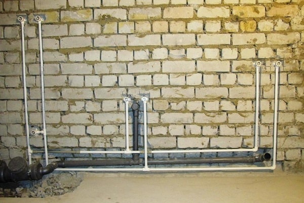Bathroom Plumbing: Schemes of Installation, Advice. Combination of tee and collector circuits