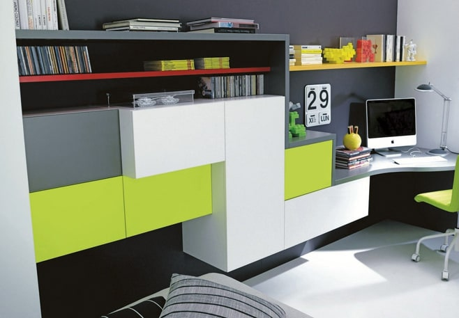Big Girl Room Interior Design and Decoration Ideas. Modular furniture