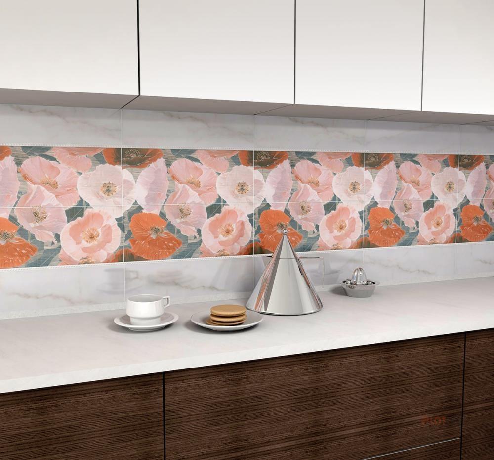 Kitchen Splashback Tile: Best Design and Decoration Ideas. Floral decoration of the room