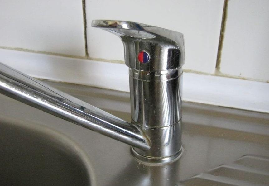 Kitchen faucet assembled