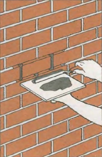 Masonry Pointing: Joints Recovery to Spalling Brick Repair. Seam recovery with joint filler