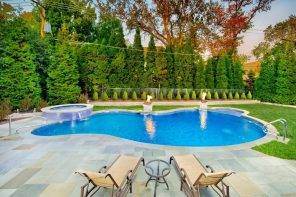 Saltwater vs Freshwater: What's the Best Pool for You? Resting place outside with the pools