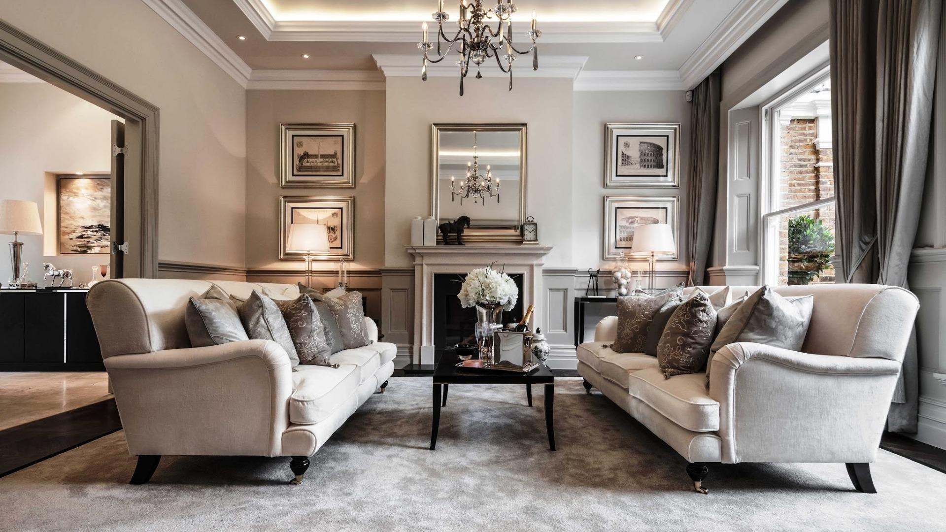 Traditional Interior Design Ideas: Lightweight Classics. Great design decorated with many pictures