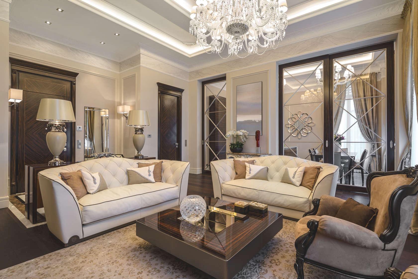 Traditional Interior Design Ideas: Lightweight Classics. Nicely decorated chatting zone with two white sofas