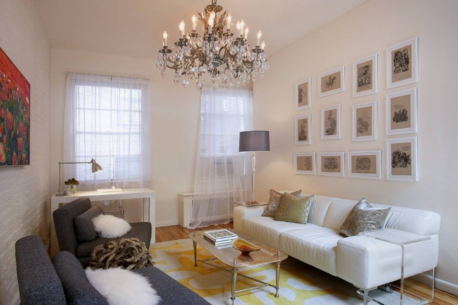 Best Modern Living Room Design Trends 2020. Picture decorated wall for neoclassic interior in light tones