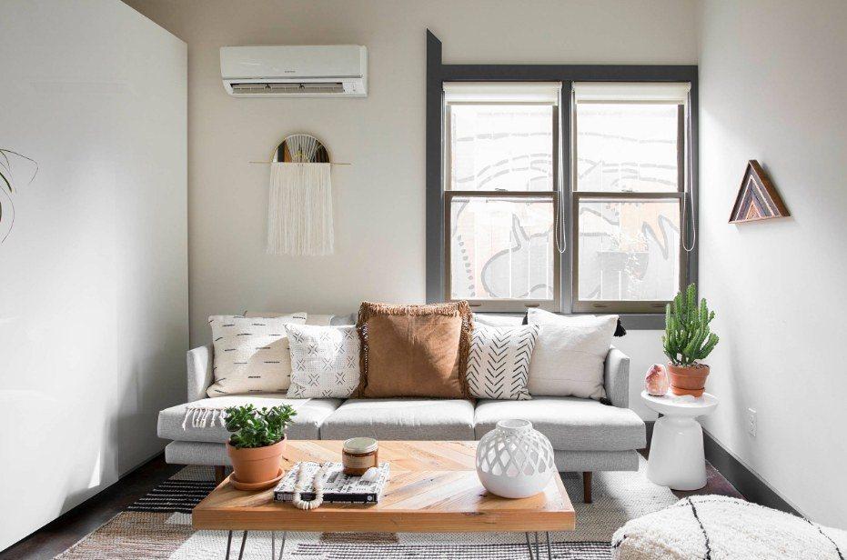 Best Modern Living Room Design Trends 2020. Casual finishing of light lit room