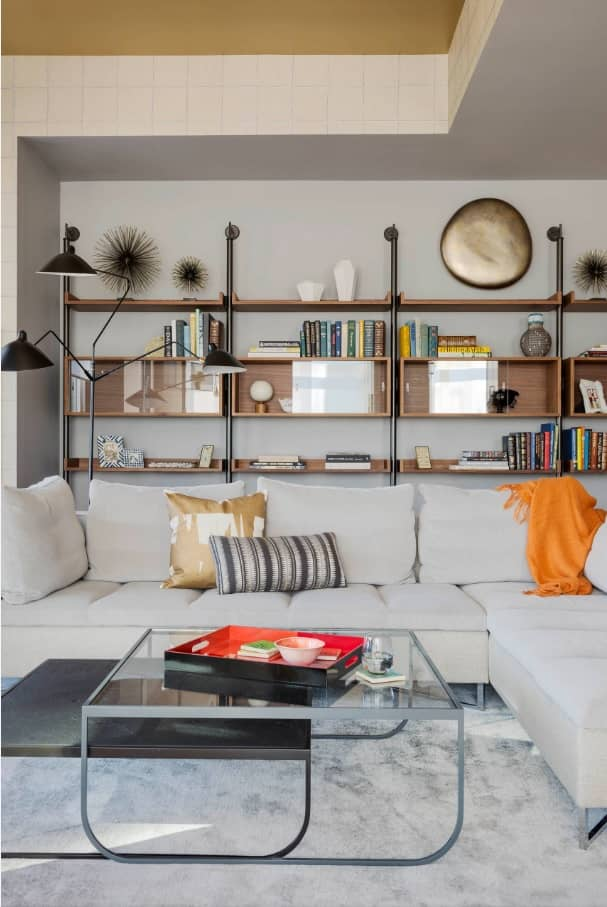 Designing Your Interior for Maximum Space Efficiency. Open shelving at the living room as the showcase