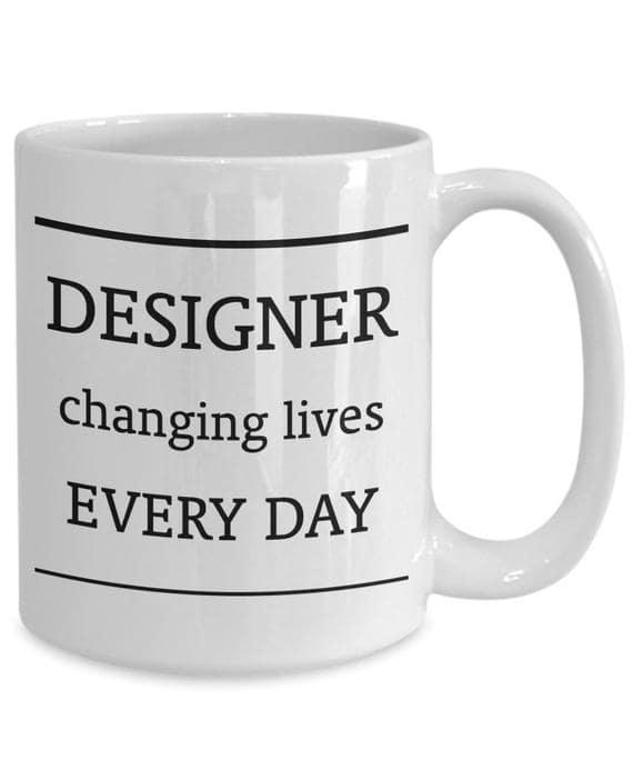 Personalized Gifts for a Home Designer. The designer's mug