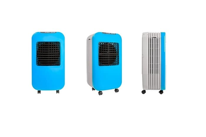 Portable and mobile blue air evaporative cooling system
