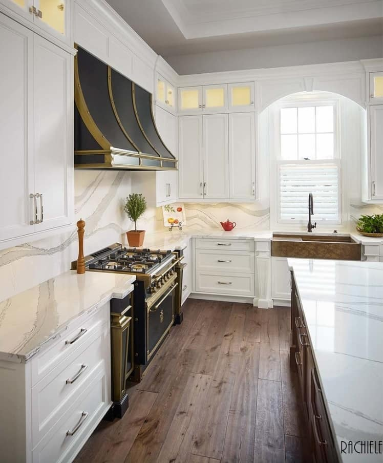 Provence kitchen with touch of steampunk and ethic styles