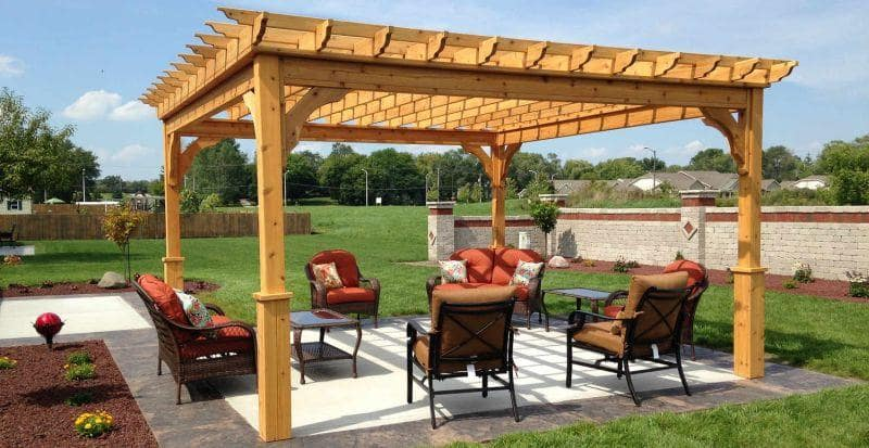 Backyard Renovation Ideas to Help Increase the Overall Value of Your Home. Pergola at the backyard with latticed wooden roof