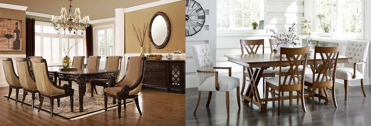 Simple or sophisticated design of dining room set