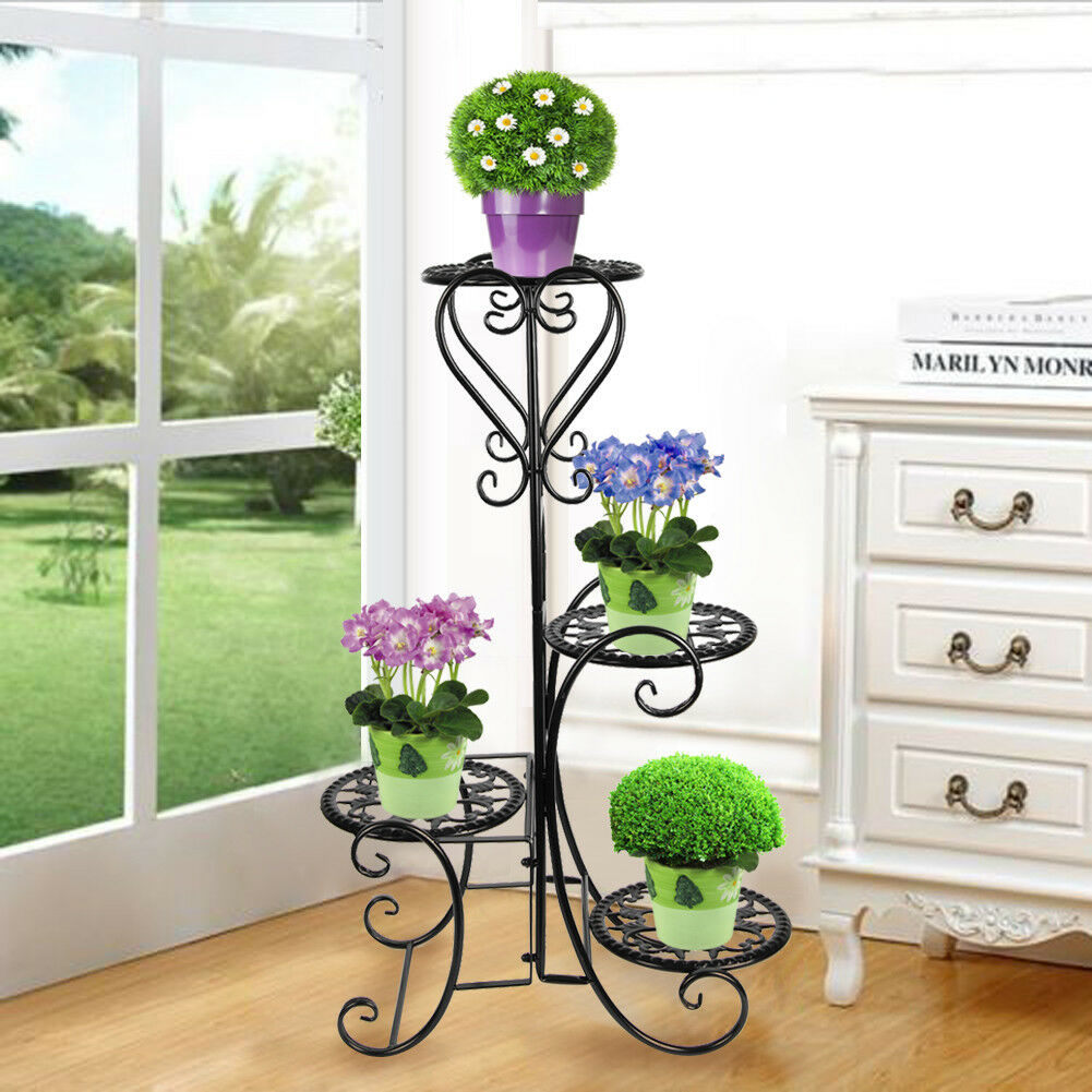 Curly form for metal flower stand