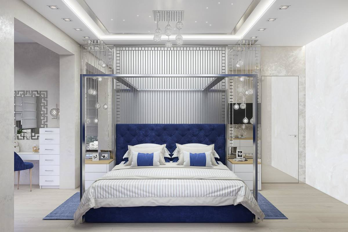 Bedroom 2020 design with blue colors