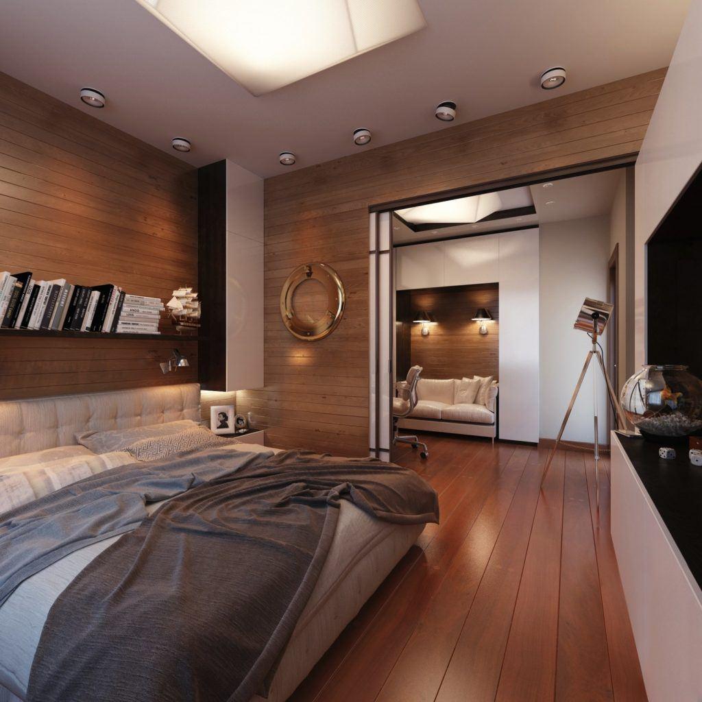 Noble reddish hardwooden tint in the modern bedroom 2020