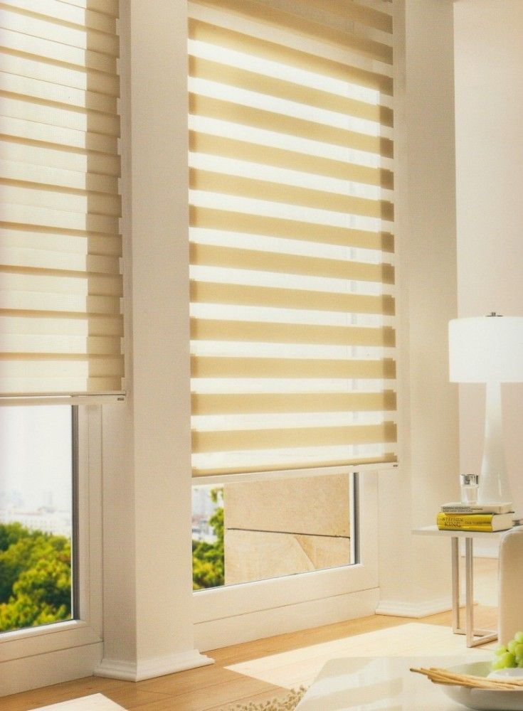 Mild coffe colored day & night roller blinds for kitchen