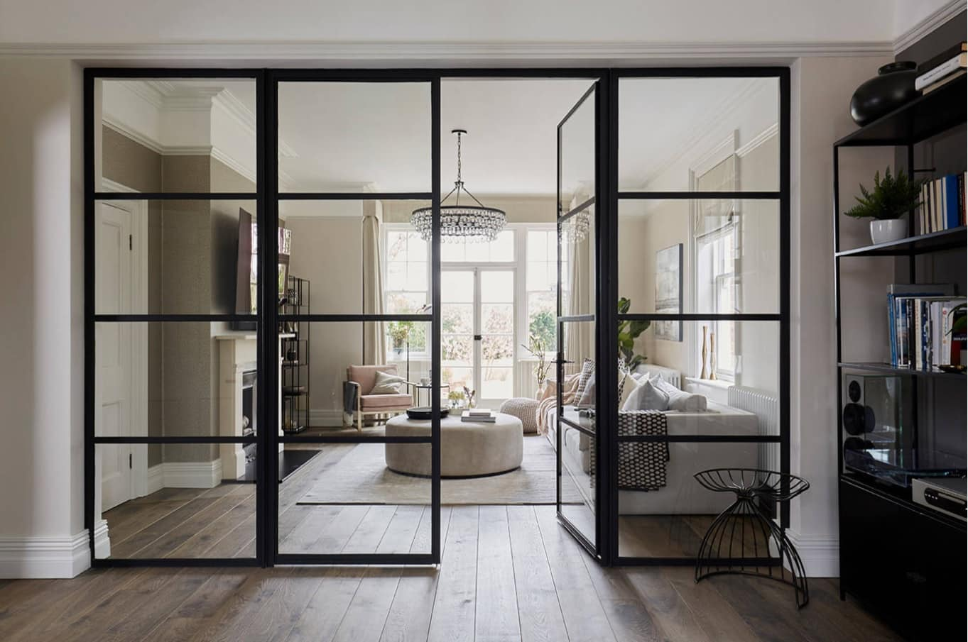 What to Look for While Buying Internal Doors. Black frame glass doors