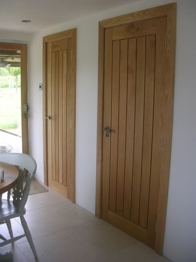 Simple designed wooden doors for casual interior