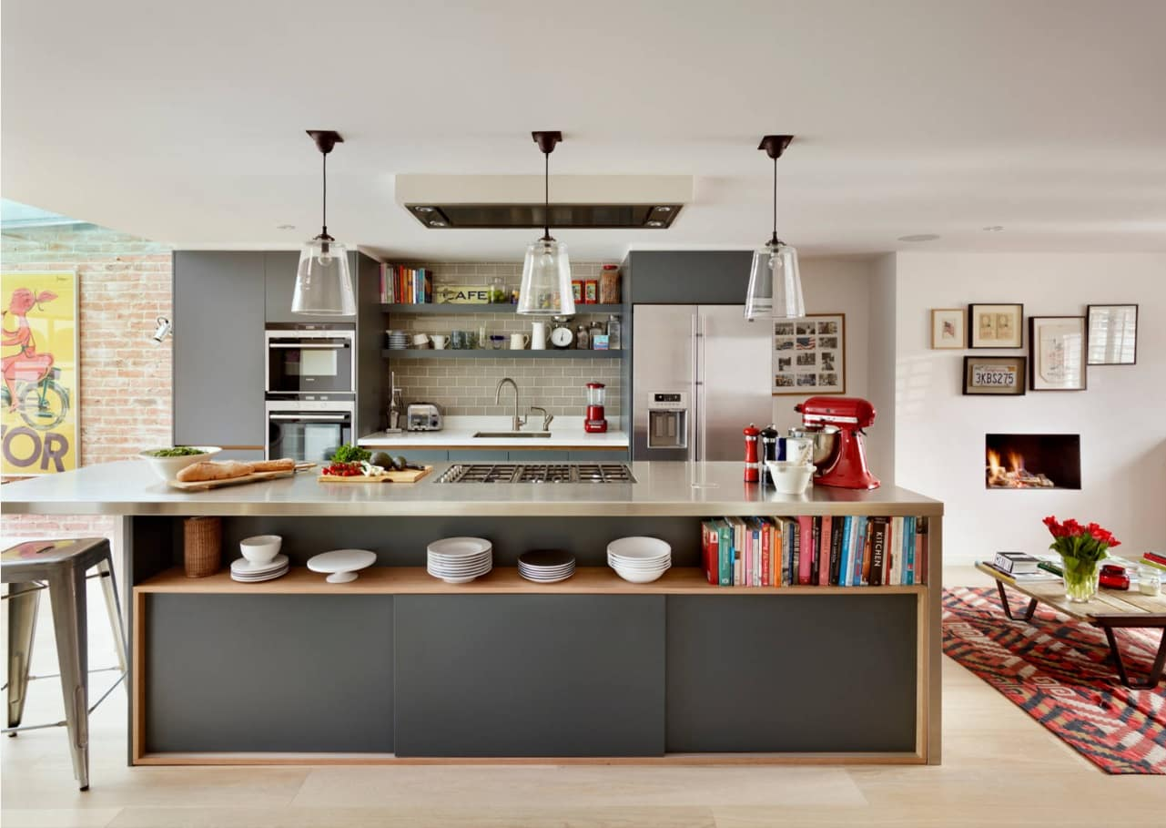 10 Kitchen Interior Design Tips. Gray and white casual design with wooden finish