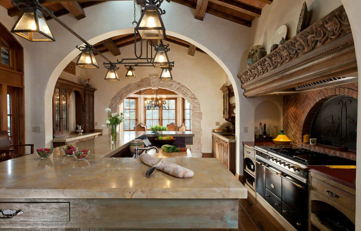 Beautiful arch for classic ethnic styled kitchen
