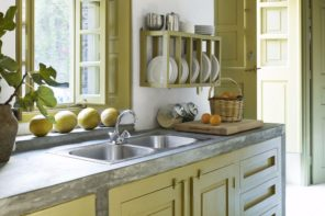 Greek Kitchen Interior Design Style: Harmony of Simplicity. Mild yellow tone for Classic room
