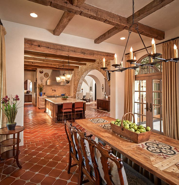Colonial rustic design of the medieval kitchen