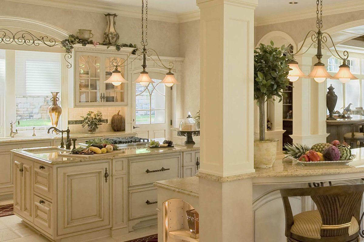 Mild creamy tones painted kitchen
