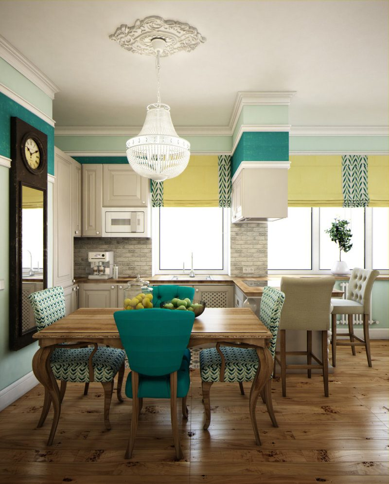 Turquoise Kitchen Design Ideas: A Lot of Decoration Options. Nice combination with yellow