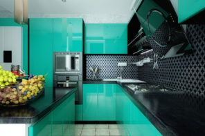 Turquoise Kitchen Design Ideas: A Lot of Decoration Options