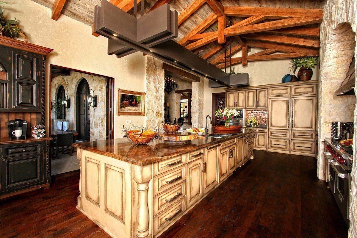 Great kitchen design with the touch of ethnic, rustic and even steampunk styles