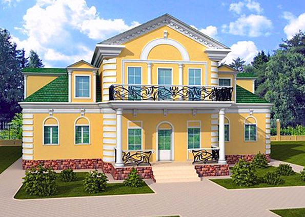 Great classic styled mansion with the terrace at the mezzanine level