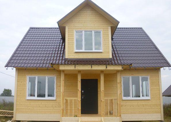 Modern house with mezzanine