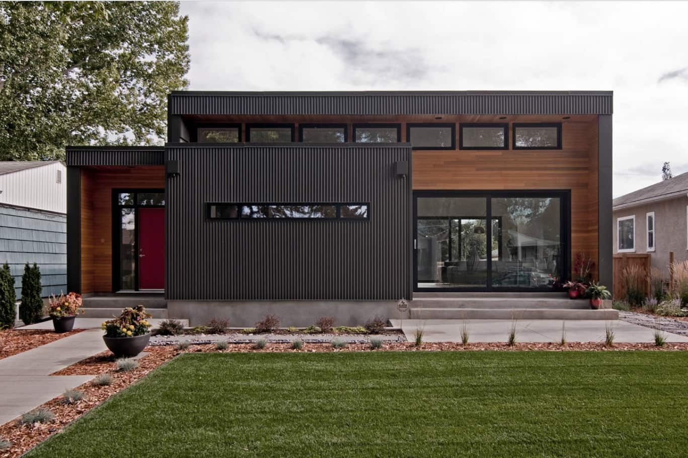 The Best Material to Use for Your Outbuilding. Metal siding for successful modern house exterior
