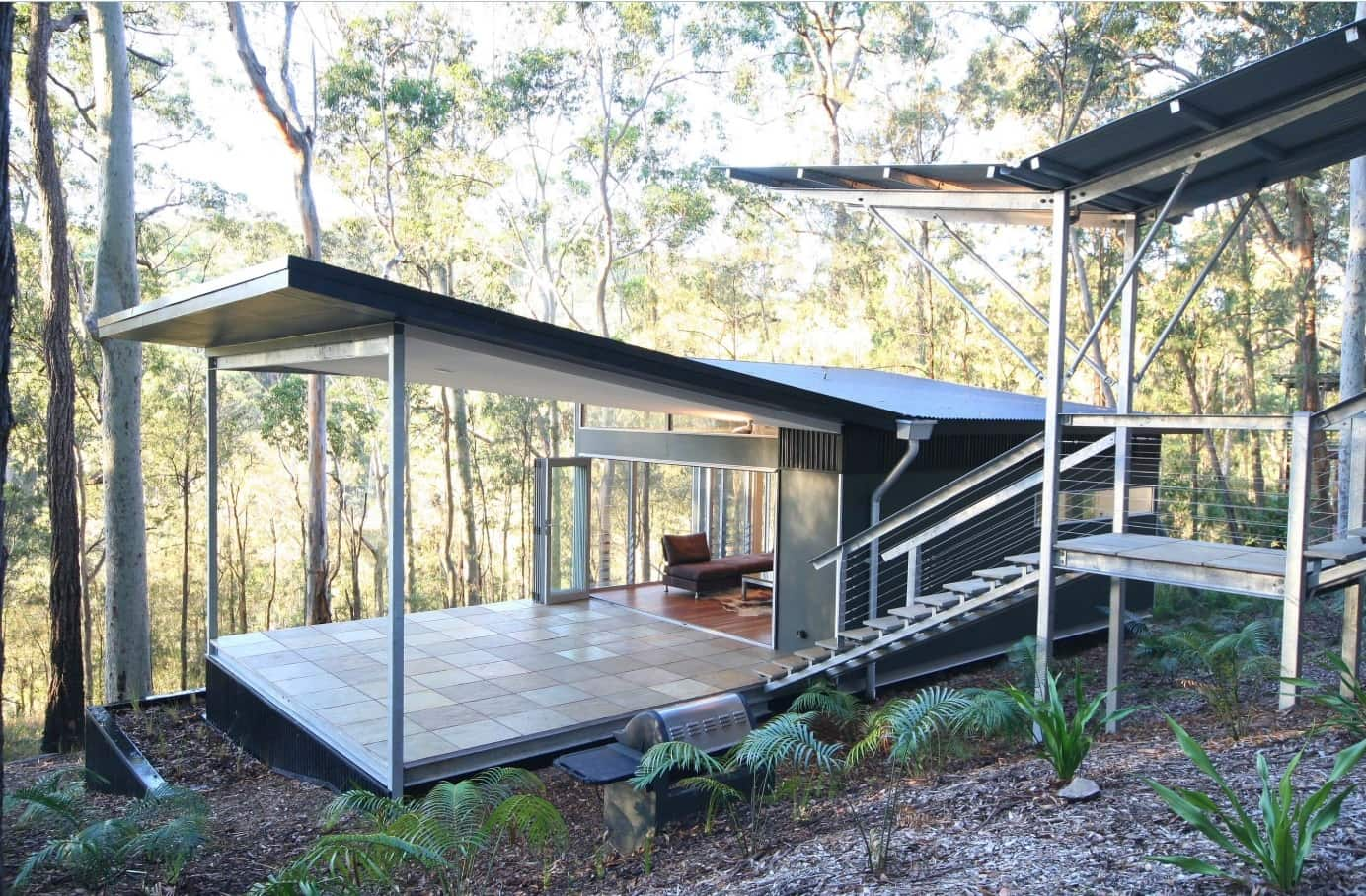 Metal and wood are great choice for sustainable house