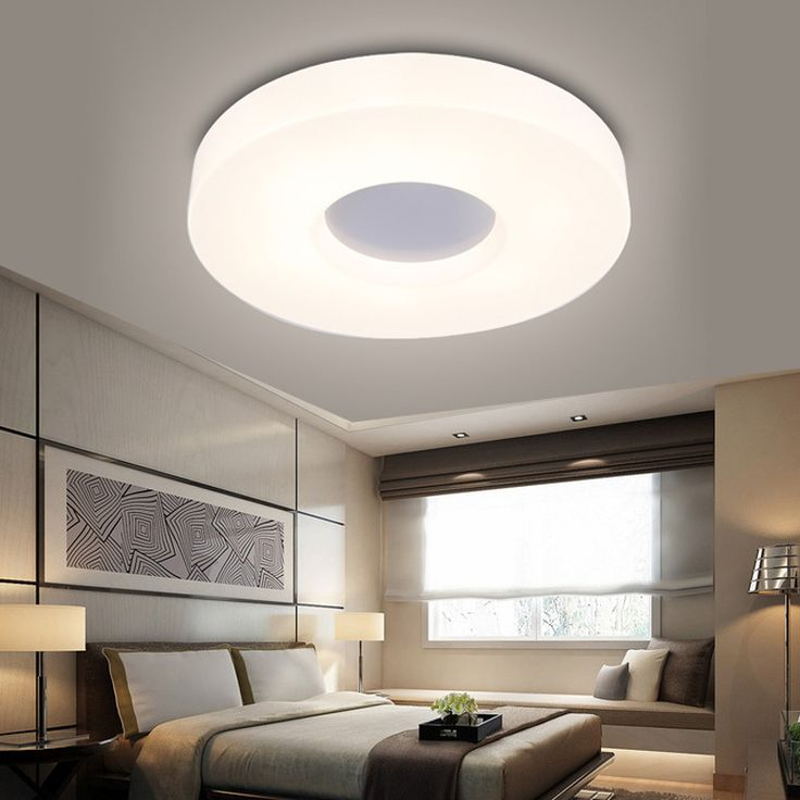 Donut looking round LED ceiling lamp