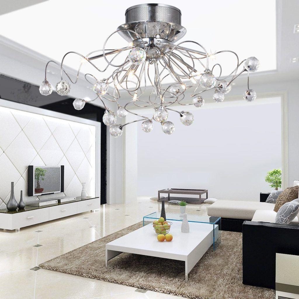 Modern Chandeliers: Huge Selection of Room Decorating Options. Big number of lights for spectacular chandelier